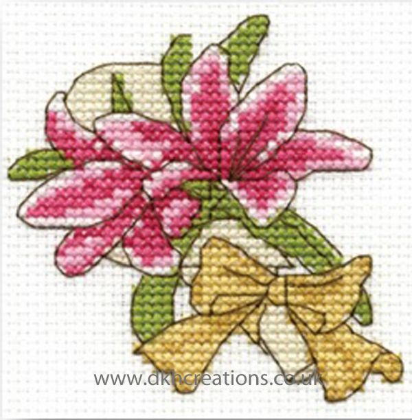 Lillies Mini Cross Stitch Kit